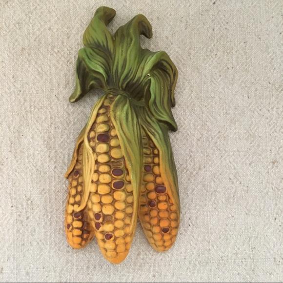 Vintage Other - Vintage Decor wall hanging ceramic corn